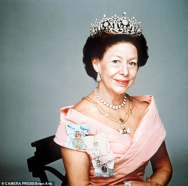 NORMAN BAKER: Although the details of Margaret's will remain inaccessible to this day, it was eventually estimated that the Queen's sister had left an estate of some £7.6 million – having previously disposed of £12 million of assets to her family, including her house on the Caribbean island of Mustique, to minimise death duties (Princess Margaret is pictured)