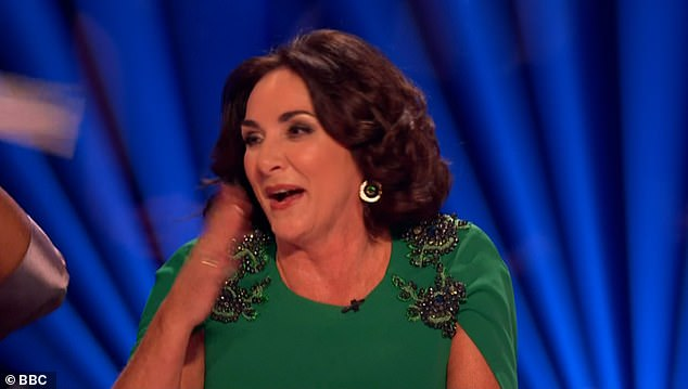 Calm down! Shirley Ballas needed to fan herself as she got all hot under the collar following the smoking hot routine