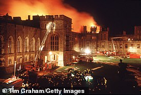 Windsor Castle required major restoration after the fire in 1992 (pictured)