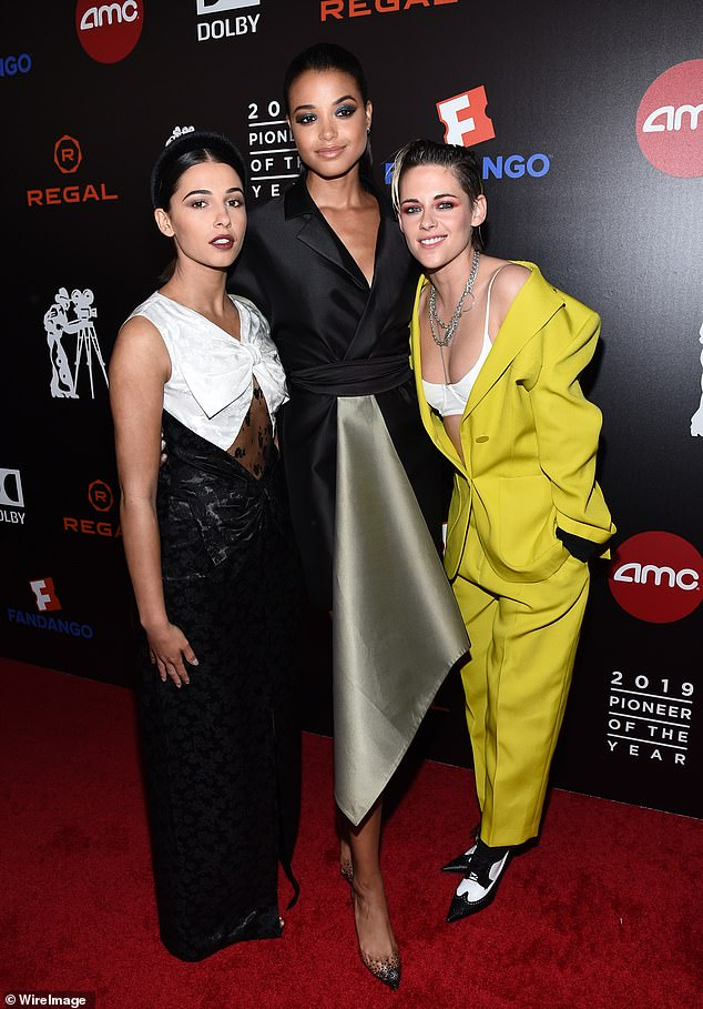 New angels! Kristen's appearance comes ahead of her debut in the upcoming Charlie's Angels reboot alongside Naomi Scott and Ella Ballinksa