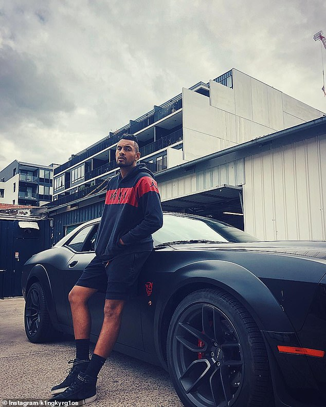 Tennis bad boy Nick Kyrgios is in the headlines again after his $300k muscle car smashed into a power pole leaving one side completely destroyed