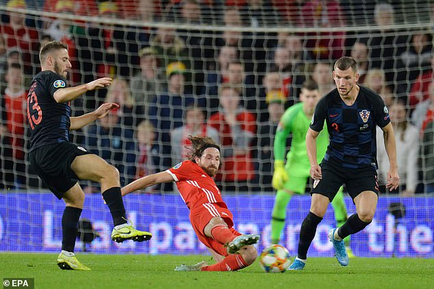 Midfielder Joe Allen was booked late on, meaning he will miss Wales' next qualifying clash
