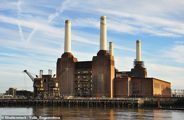 July to September was the first quarterly period where renewables outpaced fossil fuels since the UK's first public power-generating station opened in 1882, climate website Carbon Brief said. Battersea Power Station is pictured above [File photo]