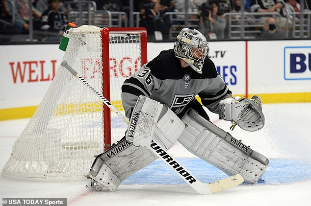 Kings remove Swift: The Los Angeles Kings (goaltender Jack Campbell is pictured on Saturday night) with the NBA teams the Los Angeles Lakers and Los Angeles Clippers
