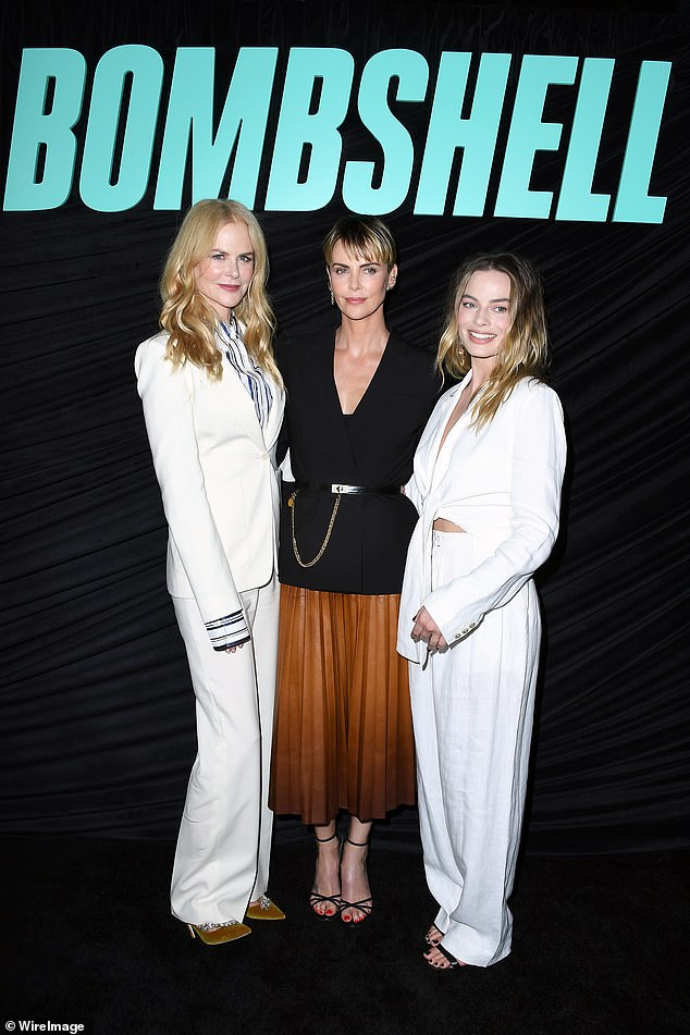 Co-stars: Joining the star at the screening were her co-stars, Nicole Kidman, 52, and Margot Robbie, 29