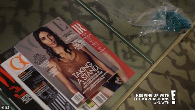 Cover girl: Kim was on the cover of US Vogue marking a longtime gail