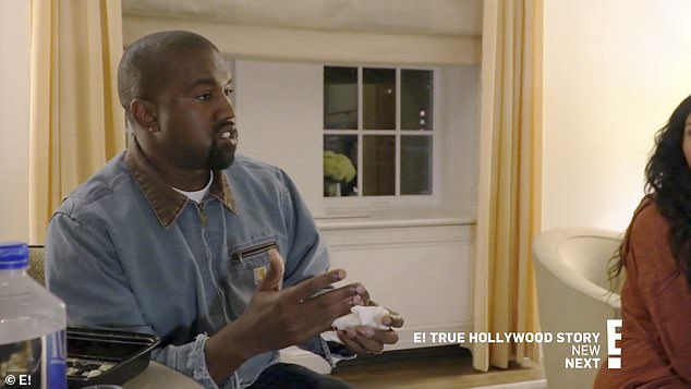 Recent transition: Kanye told his wife that he recently made a transition from rapper