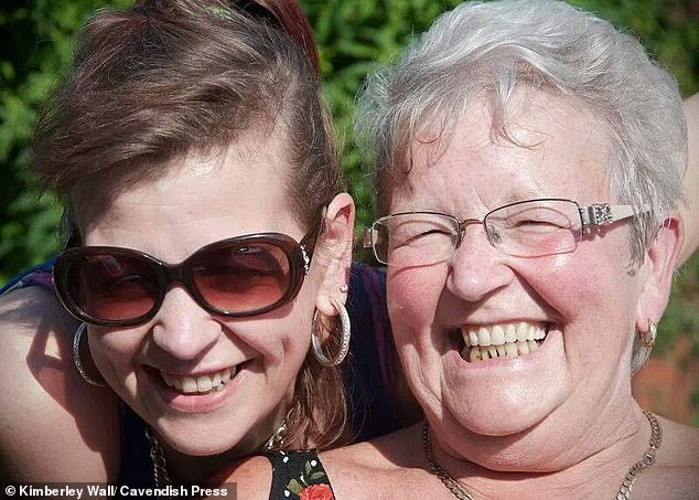 Miss Hall's mother Muriel Stephenson (right) said her daughter (left) had loved the fact that she had lost so much weight