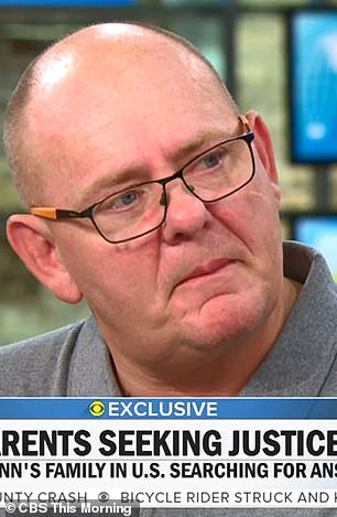 Harry's father Tim broke down as he described his son's final moments after being hit by Sacoolas' Volvo SUV