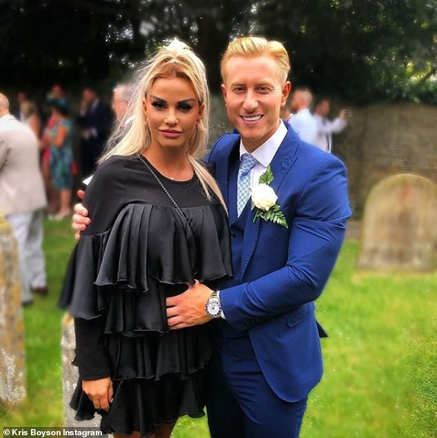 Hurtful comments: The duo met earlier this year when Katie was reportedly still with her ex Kris Boyson, 30, leading to heartache however things have now ended in a bitter storm (pictured together in July)