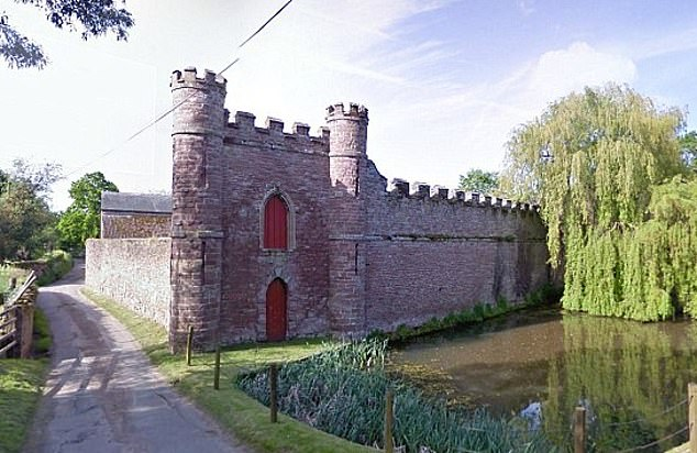 The couple originally had plans for a kitchen and boot room extension and a new sunroom at the castle (above) approved by Herefordshire Council in 2019, but they have changed the plans