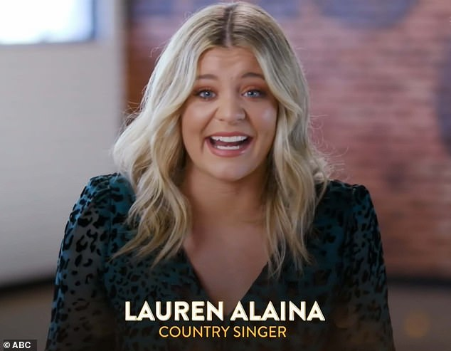 Country singer:Country artist Lauren Alaina, 24, performed a peppy samba to Under The Sea from her favorite film, 1989's The Little Mermaid