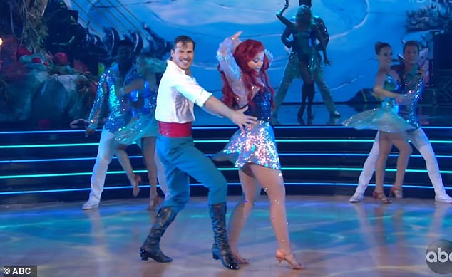 Fabulous dance:Bruno Tonioli called their routine, 'fabulous underwater and pretty hot on dry land as well'