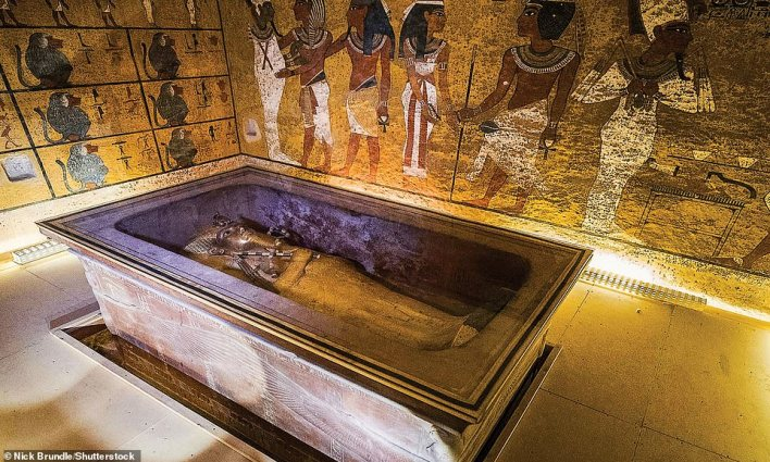 Tutankhamun died aged 19 and was hurriedly buried. His tomb in the Valley of the Kings has recently reopened after years of restoration work