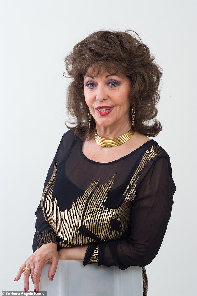 Barbara Angela Kealy (pictured), from London, started being told she looked like actress Joan Collins after she won the part of Alexis Carrington part in Dynasty
