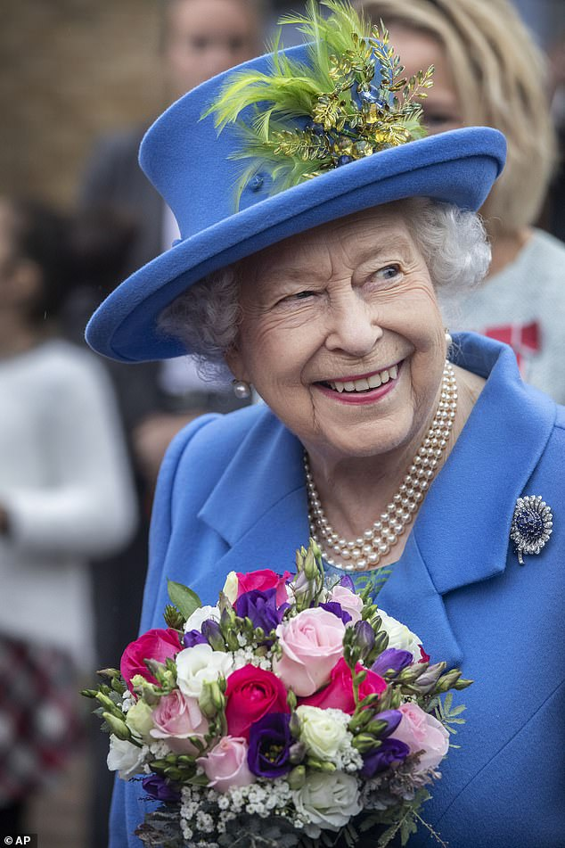The Queen was in good spirits during her first royal engagement since returning from Balmoral