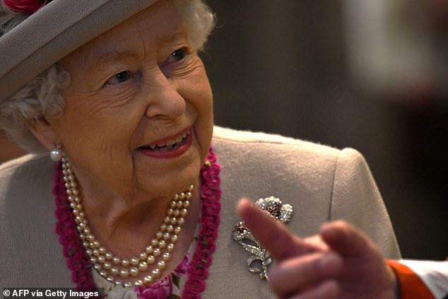 The Queen appeared overjoyed to be attending the anniversary service, which marks 750 years since the Abbey was consecrated on the site