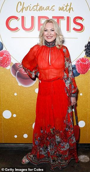 Va va voom: The Studio 10 host carried her belongings in a quilted red Chanel handbag