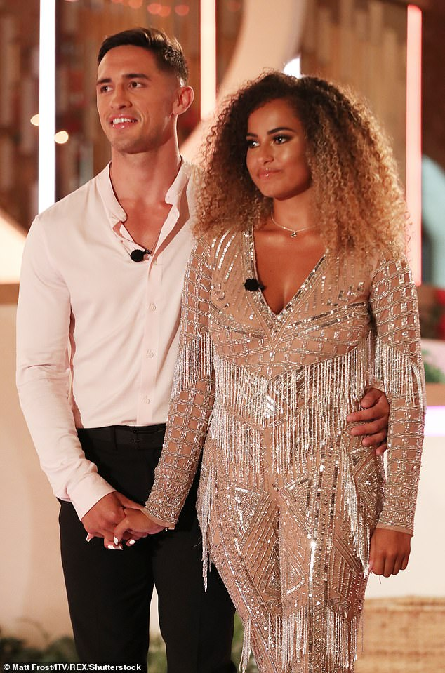Split: This year's series of Love Island was won by Amber Gill and Greg O'Shea who split after just five weeks together when the rugby player dumped her by text (pictured in July 2019)