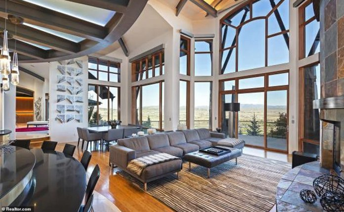 The five-storey house also boasts picturesque views of the surrounding Wasatch Mountains and access to an exclusive golf course nearby