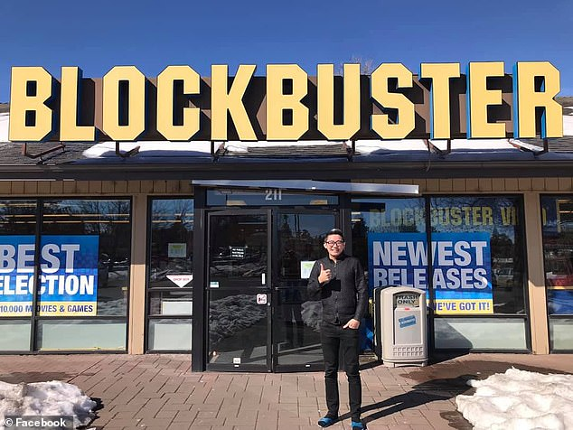 People have flocked from all over the world to visit the branch before it is gone - which is still renting and selling DVDs to avid fans every day