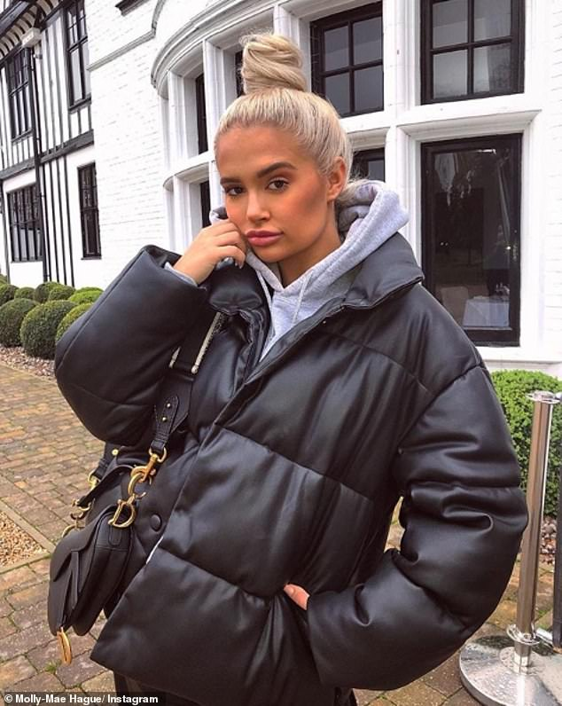 Banter: Molly-Mae Hague branded her mum Debbie 'savage' as she jokingly tore into her personal appearance (pictured yesterday)