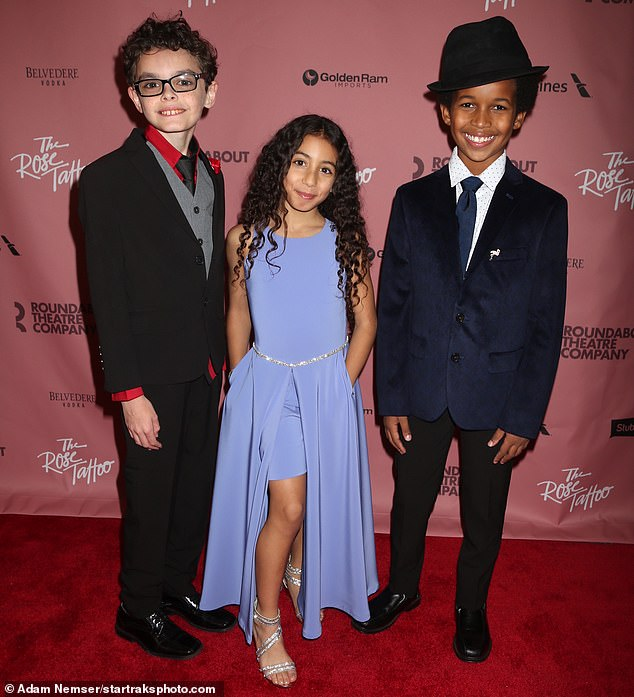 So sweet:Child actors Jacob Michael Laval, Isabella Iannelli and Alexander Bello, who are all part of the production, were at the opening party as well
