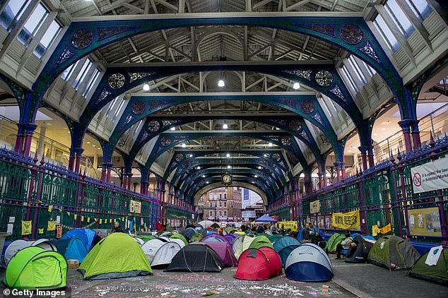 Activists from Animal Rebellion, an extreme vegan offshoot of the main Extinction Rebellion movement, occupied Smithfield meat market during their two weeks of chaos in London