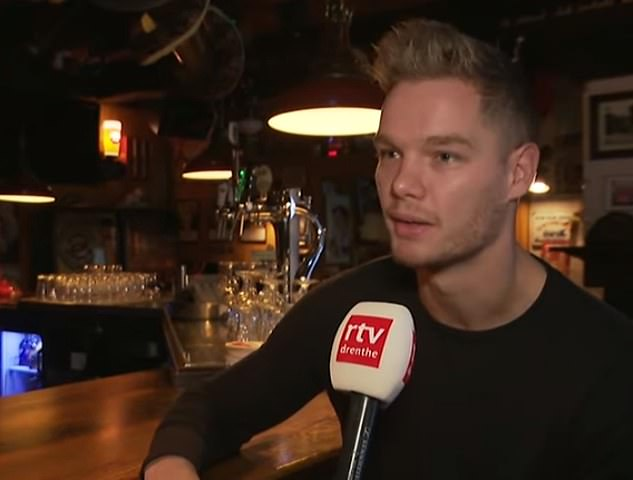 Bar owner, Chris Westerbeek, recalled the 25-year-old man came in numerous times over a number of days and looked 'confused'