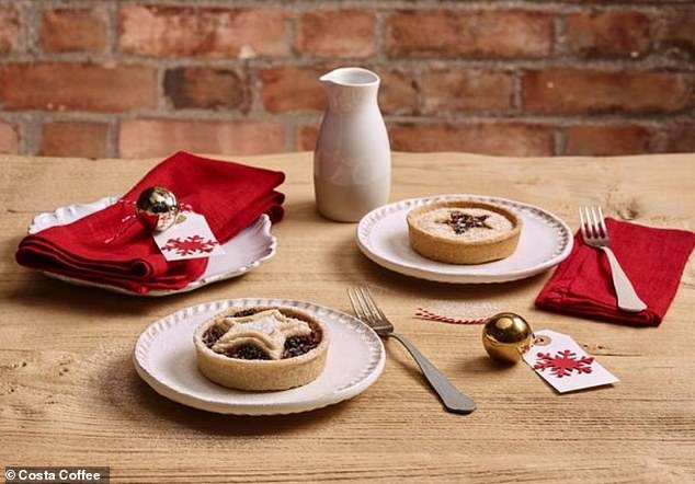 Costa announced the Christmas menu, which includes some tasty fan favourites including Mince Pies alongside new festive treats, will go on sale on November 1