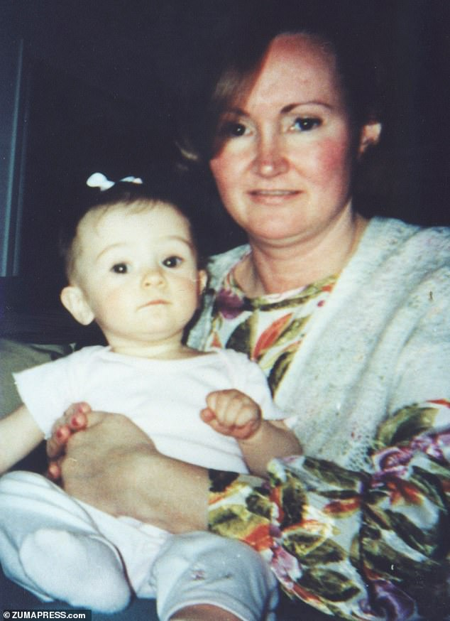 She said she also visited her mother's grave for the first time when she turned 18 (She is pictured with her mother Bonny Blakey before her death)