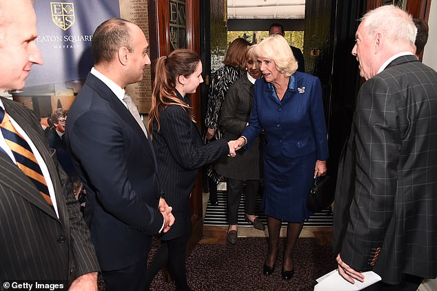 The royal appeared elegant in a royal blue ensemble as she attended the poetry event earlier today