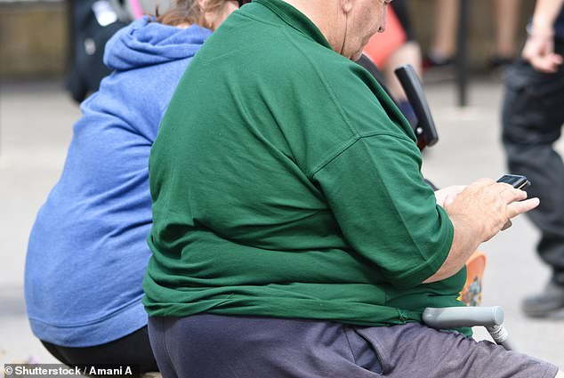 Obese adults (file photo) who do not cut to a healthy body weight by middle age are increasing their risk of dying young by more than a fifth, a study has warned