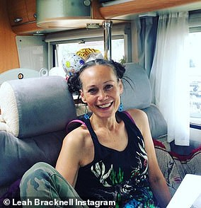 Emotional: Leah Bracknell, 55, has written a moving 'cancer manifesto' after she was given a mere few months to live following her terminal lung cancer diagnosis in 2016