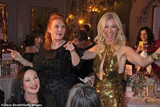 Dancing Queen! The Duchess of York looked delight to have a boogie with Jenny Halpern Prince at the Gala