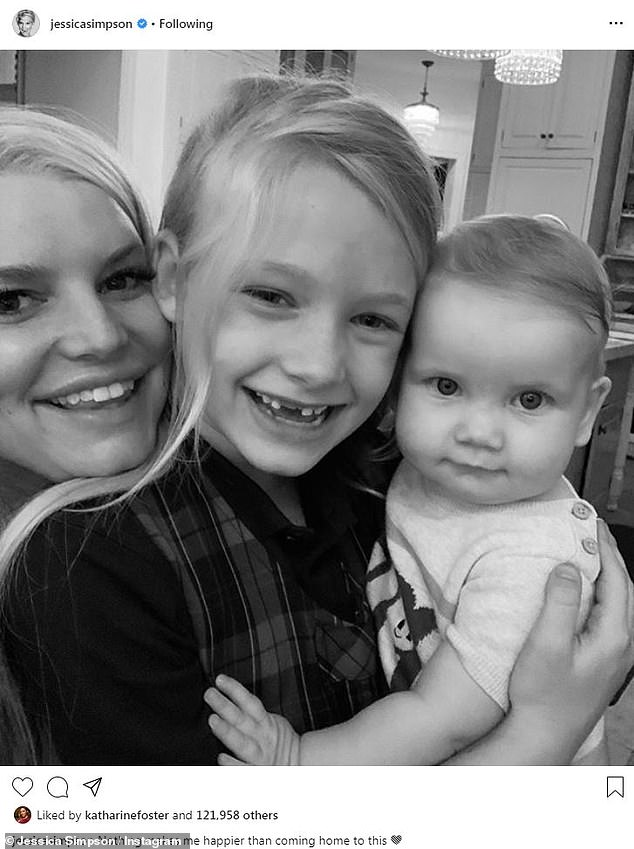 The girls: Birdie Mae is Jessica's second daughter, following first-born, Maxwell Drew