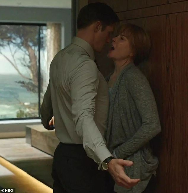 Must see TV: Kidman and Skarsgard lit up the screen as a dysfunctional couple in a marriage scarred with domestic violence in the HBO drama series Big Little Lies