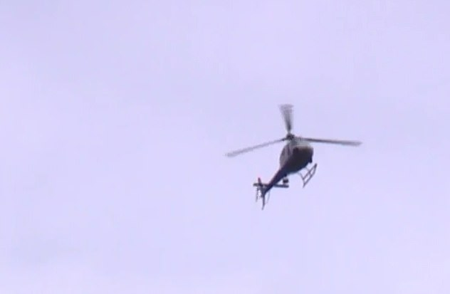 A Jefferson County helicopter was seen flying over the scene in Birmingham