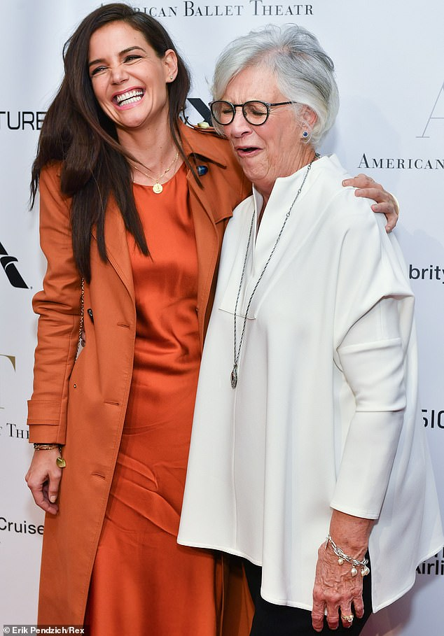 Family time:The 40-year-old actress looked the picture of bliss on the red carpet, laughing as she wrapped an arm around her mother's shoulder