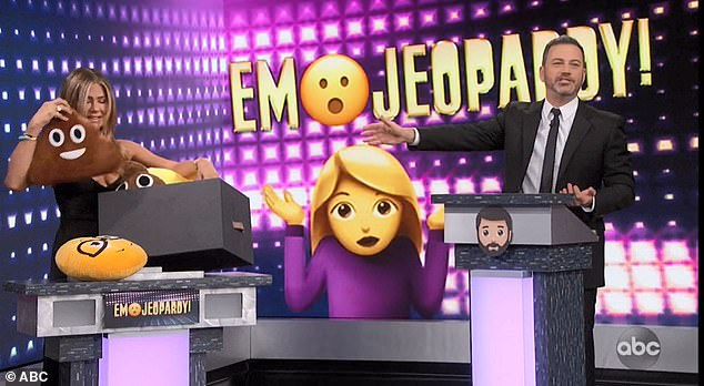 Parting gifts: Jimmy gave Jennifer some pillow emojis as a parting gift