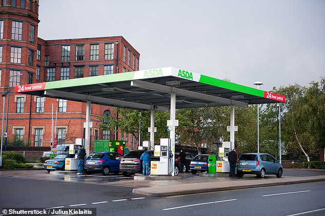 Earlier this week, the RAC claimed retailers should reflect a drop in the wholesale cost of petrol by reducing prices by 7p per litre.Asda senior fuel buyer Dave Tyrer said: 'With wholesale costs falling and half-term just around the corner, we're pleased to be able lower the cost of fuel and pass these savings on to our customers