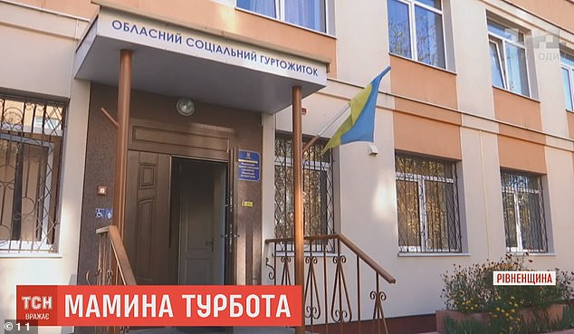 According to reports in local media, Mykyta and his 19-year-old mother lived together in a social hostel (pictured)