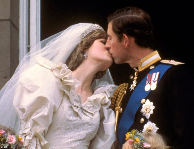Prince Charles kissing his new bride, the former Diana Spencer, on the balcony of Buckingham Palace in London, after their wedding on July 29, 1981. The couple broke with tradition and removed the antiquated 'obey' line in their vows. Though Charles forgot to seal his vows to Diana with a kiss, the prince made up for it hours later when he and Diana began a new tradition that other newly wed royal couples followed - kissing in public view on the Buckingham Palace balcony. This pictured got 11 per cent of the vote