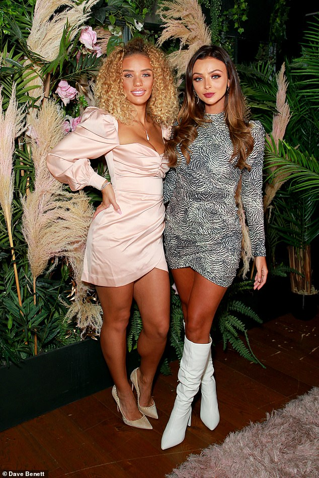 Party time: Kady posed with model and influencer Jenna Frumes