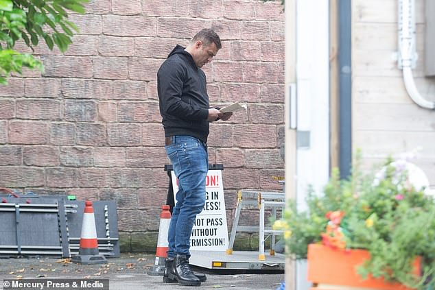 Rehearsal: Jamie's return to the Channel 4 soap comes as Asan NJie's final scenes on Emmerdale aired, following his sacking by soap bosses