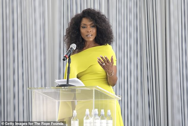 Angela Bassettspoke at the Rape Foundation Annual Brunch in Beverly Hills earlier this month where she revealed her mother's boyfriend touched her sexually while she slept