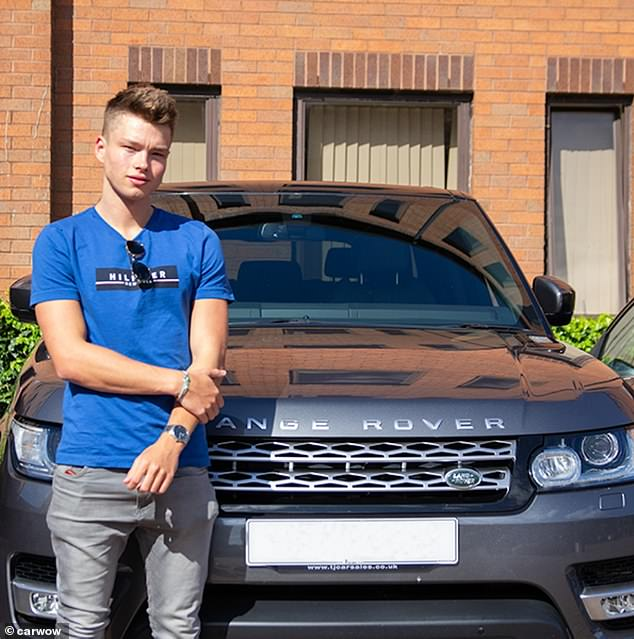 This is despite one in five admitting to having previously dated someone because they had a nice vehicle. Pictured: The anonymous man in front of a Range Rover