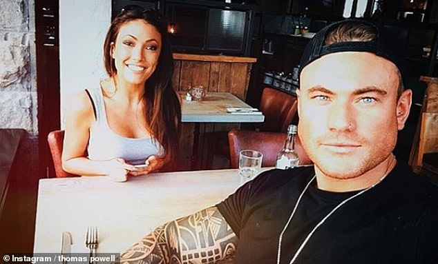 Coupled up: The fitness modelcoupled up with the late Sophie Gradon on the reality show in 2016