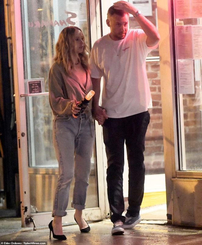 Wedding planning: Jennifer and Cooke are seen in May this year