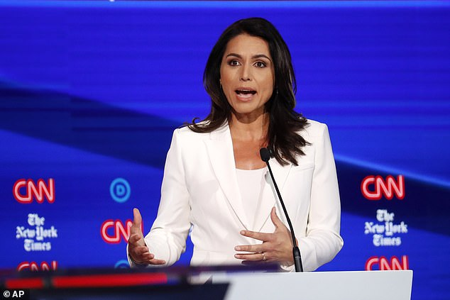 Tulsi Gabbard, in Tuesday's debate, said the allegation she was a 'Russian asset' was 'completely despicable'